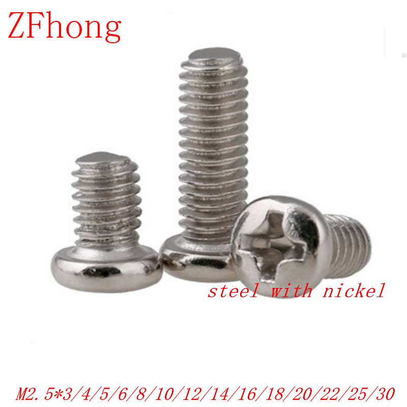 20 x Screws Self Tapping 2.0mm x 12mm Pan Head 304 Stainless Steel