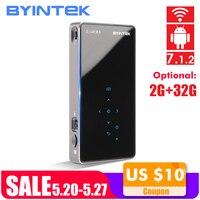 BYINTEK UFO P8I Android 7,1 OS Pico карманный HD портативный микро лазер wifi Bluetooth мини светодиодный DLP проектор с батареей