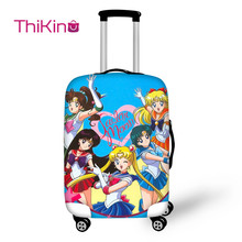 Thikin Sailor Moon Travel Luggage Cover for Girls Candy Color School Trunk Suitcase Protective Bag Protector