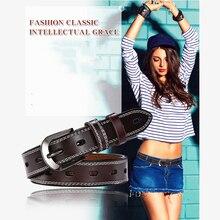 купить Wonen's Belt  Genuine Leather Casual Alloy Pin Buckle Hollow Belt Fashion Designer for Women Leather Strap Punching Belt Female по цене 996.51 рублей