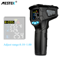 MESTEK 50 800C IR Thermometer IR01D Digital Non contact Humidity Infrared Thermometer Hygrometer Temperature Pyrometer Tester