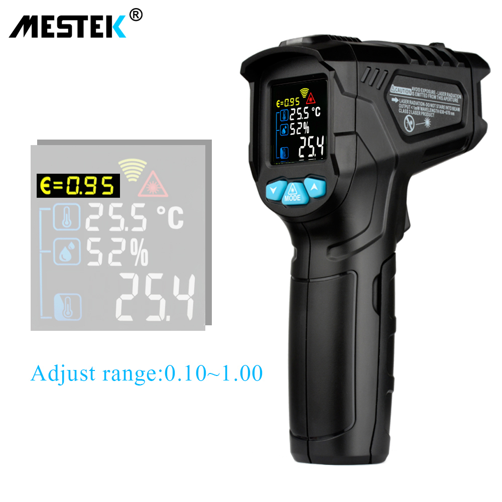 MESTEK -50-800C IR Thermometer IR01D Digital Non-contact Humidity Infrared Thermometer Hygrometer Temperature Pyrometer Tester