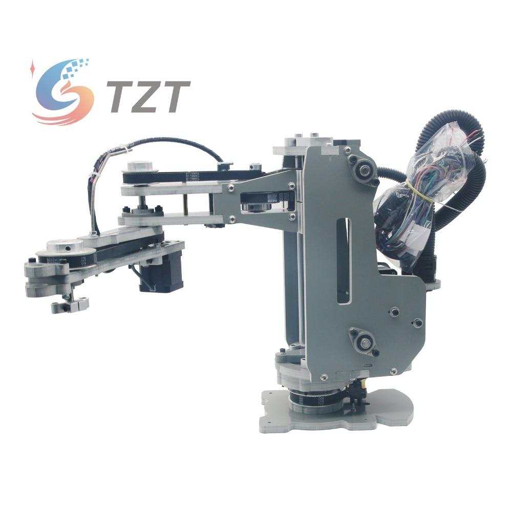 2018 SCARA Robot Mechanical Arm Hand Manipulator 4 Axis Stepper Motor Assembled Robot Arm mechanical arm robot arm drag demonstration dobot planetary deceleration stepper motor encoder