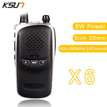 6PCS KSUN BUXUN X-36TFSI Walkie Talkie 8W Dual Band Portable Radio UHF400-480MHz CB Radio slim 20mm