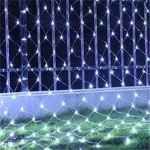3X2 м или 1,5X1,5 м сетчатый светильник гирлянда Мерцающая звезда открытый сад Свадебная вечеринка оконная занавеска Сказочный праздничный Декор