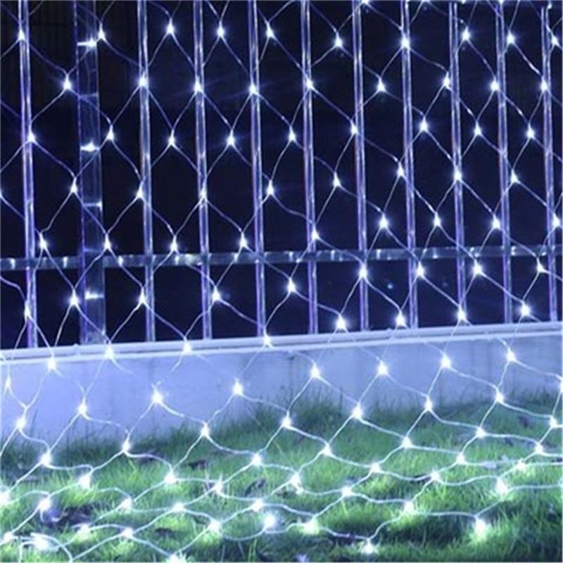 3X2M Or 1.5X1.5M Net Mesh String Light Garland Twinkle Star Outdoor Garden Wedding Party Window Curtain Fairy Holiday Decor