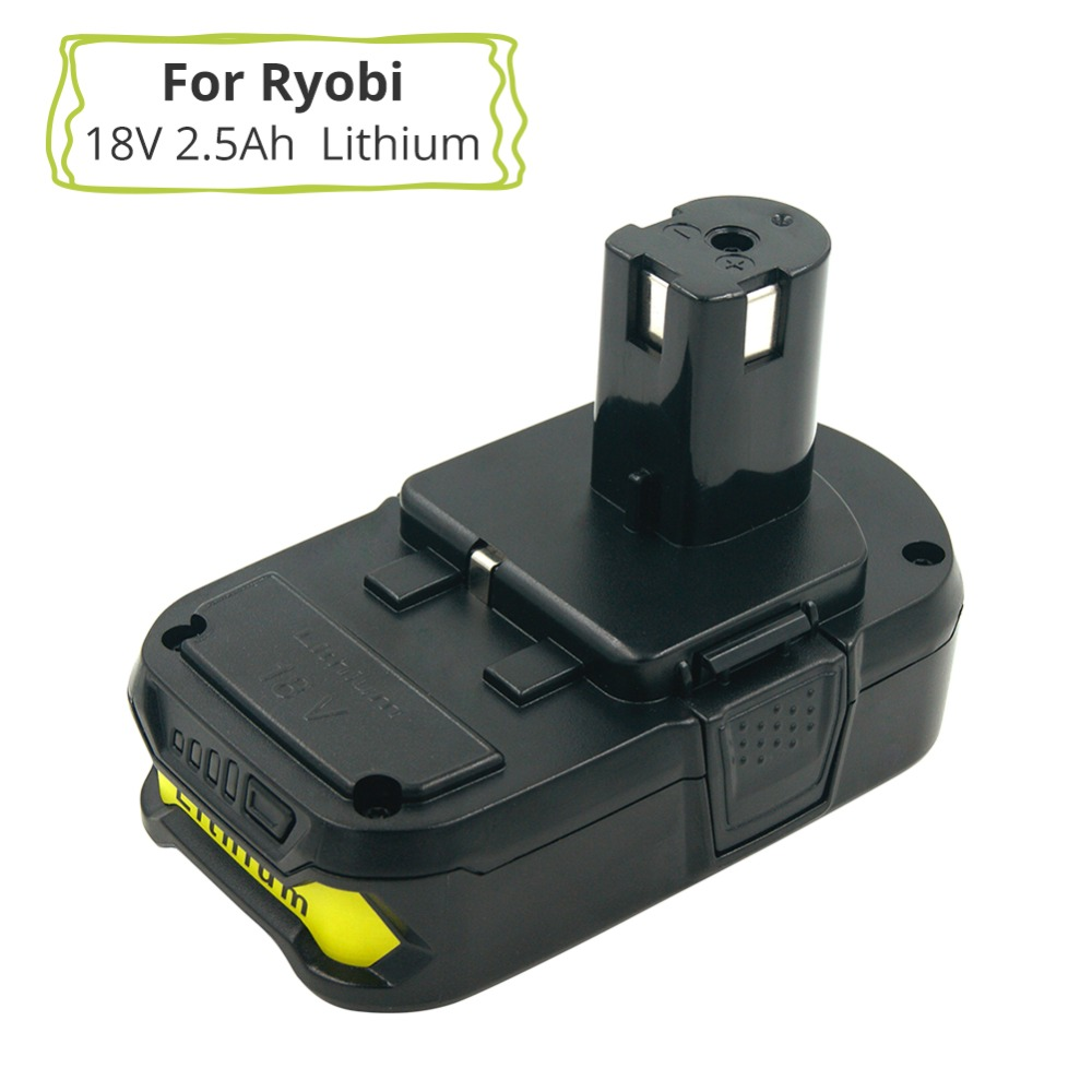 18V 2.5A RB18L25 Lithium Ion Replacement Battery For Ryobi Power Tools Drills Replace P100 P102 P103 P104 P105 P107 P108 18v 5000mah li ion battery for ryobi p108 p107 p106 p105 p104 p103 p102 power tool battery high quality