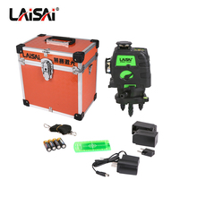 Fukuda LAISAI Brand 12 lines green laser Self-Leveling 360 Horizontal And Vertical Cross Super OSRAM green laser level 3d цены онлайн