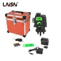 LAISAI Brand12 Lines Laser Level Self Leveling 360 Horizontal And Vertical Cross Super OSRAM green laser level 3d