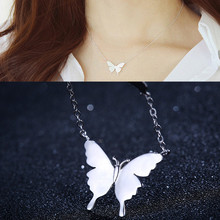 Trendy Butterfly Pendant Necklace for Women Rose Gold Silver Color Pendant Collar Chain Necklace Fashion Jewelry Wholesale misananryne fashion rose gold silver color crystal necklace butterfly pendant choker necklace for women party jewelry gift