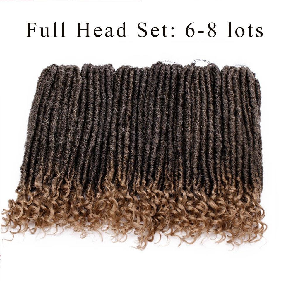 Goddess Locs Crochet Hair Faux Locs Synthetic Braiding Hair Extensions 18 inch Soft Natural Kanekalon Hair