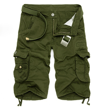 2017 New Design Men Summer Camouflage Military Cargo Shorts Bermuda Masculina Jeans Male Fashion Casual Baggy Denim Shorts