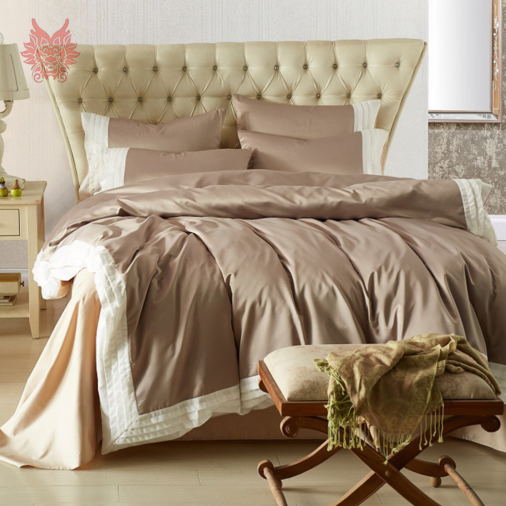 Korean Style Luxury Multi Color Solid Washed Silk Bedding