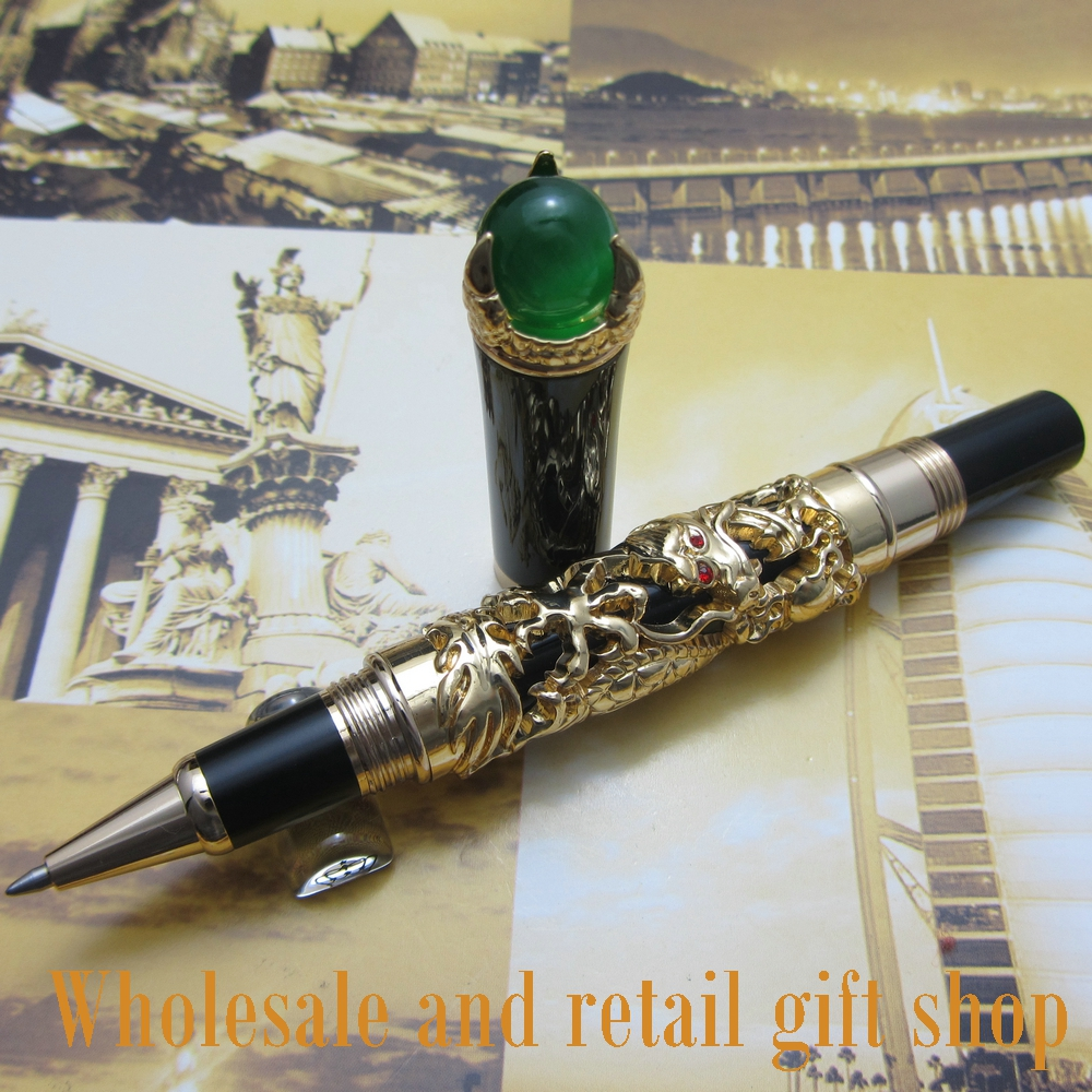 Jinhao H700 dragon king play pearl roller Ball Pen beautiful retro culture metal gift pen полотенца valentini полотенце valentini цвет темно синий набор