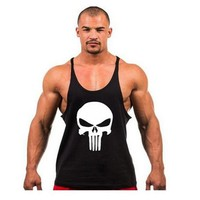 ONE A CAKE 2017 Brand Musculation Vest Bodybuilding Clothing And Fitness Men Solid Tank Tops Blank