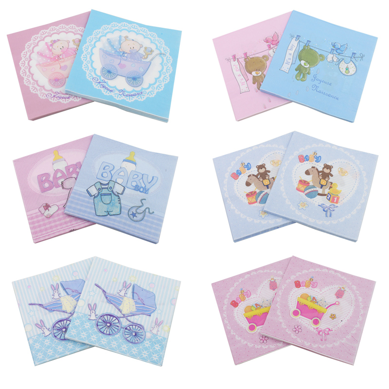 Rainloong Baby Shower Paper Napkin For Boy Girl Gender Reveal Party Tissue Napkin Decoration Serviettes 33 33cm 5packs Napkin Decoration Napkin For Babynapkin Girl Aliexpress