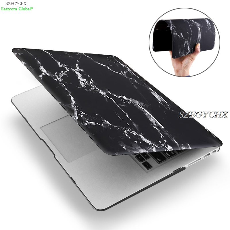 Marble Texture Laptop Case For Macbook Air Pro Retina 11 12 13 15 inch with Touch Bar New, For Mac book + keyboard cover