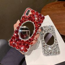 3D Glitter Luxury Bling Diamond Phone Case for iPhone 6 7 8 8plus X XS XR XSMAX With Mirror 6s plus Shockproof Cases Girls