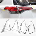 New Car Styling 4Pcs/set Taillight Chrome Sequins Newest ABS Plating Decoration Cover High quality For Toyota RAV 4 2016