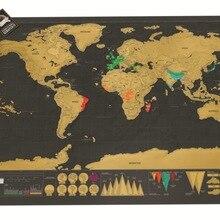 Роскошные Wissen Zwart карта мира krassen Wereldkaart Gepersonaliseerde Reizen scrich voor Kaart Kamer Woondecoratie muursticks