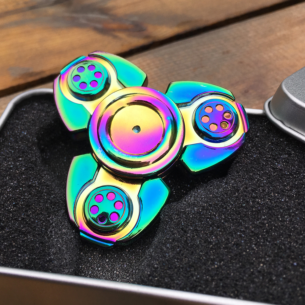 New Tri Spinner Fidget Spinner Metal EDC Finger Tyro Toys for ADHD Kids Adults Anti Stress Gifts infinity cube new style spinner fidget high quality anti stress mano metal kids finger toys luxury hot adult edc for adhd gifts