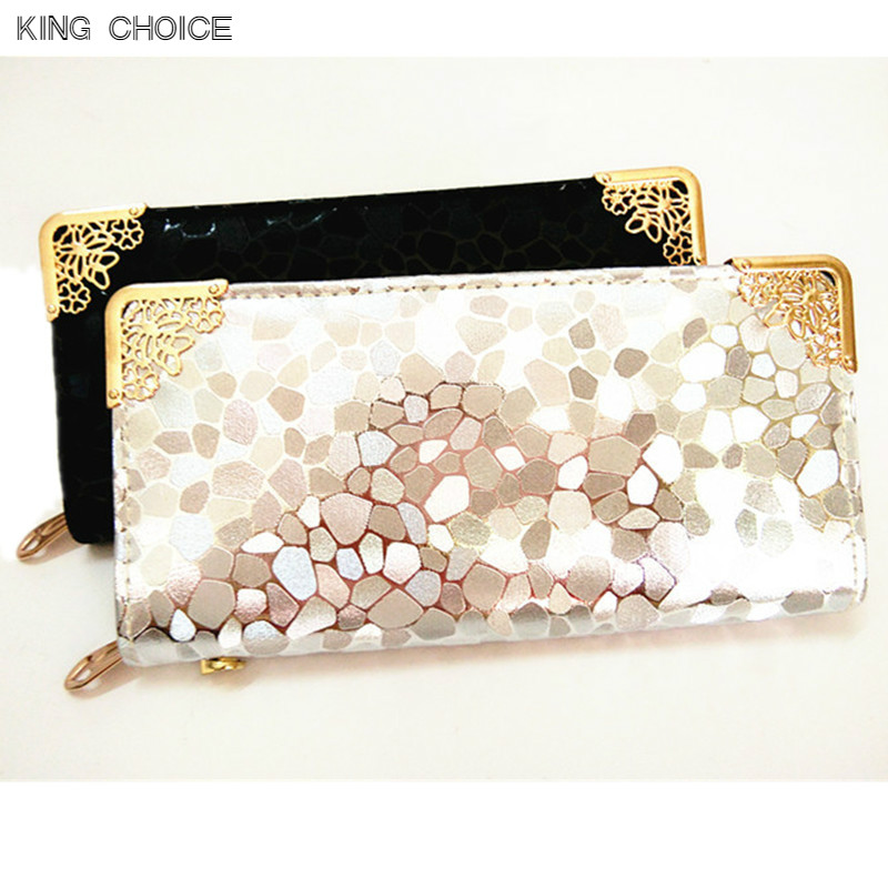 Female Long Wallets Women Clutch Stone Ladies Pu Coin Purse Money Bag Card Holder Women Elegant Leather Wallet brand genuine leather wallet female purse long coin purse money bag casual card holder women wallets fashion purse wallet women