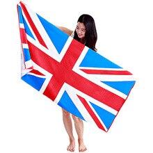 New Beach Towel USA flag UK FLAG Printed Microfiber Bath Towels For Adults Flag Big Drying Toalla Bathroom 70*140cm