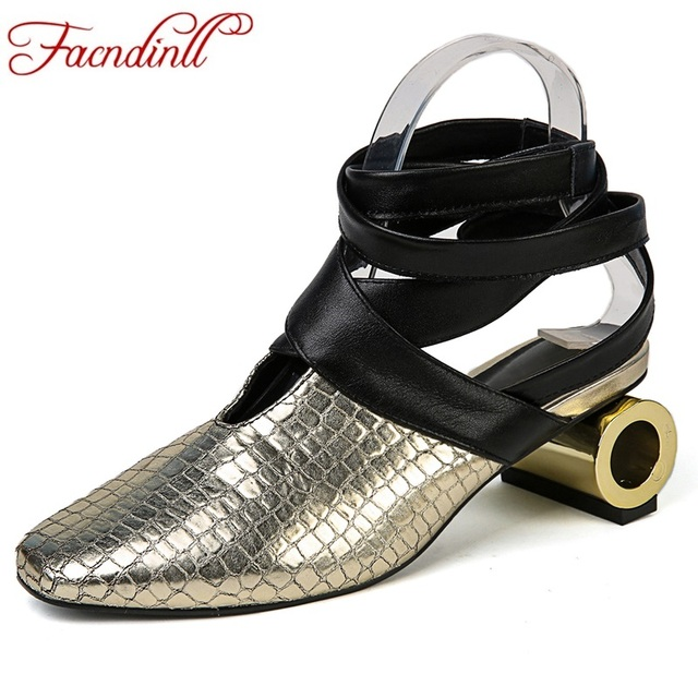 new brand design women spring summer distinctive gladiator shoes sexy square toe leather pumps high heels lady casual dress shoe