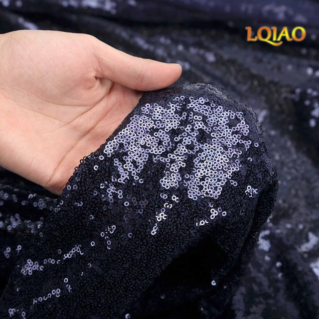 Free Shipping 15Ft 5 Yards Navy Blue Sequin Fabric By The Yard, Sequin Fabric,Tablecloth,Linen, Sequin Tablecloth, Table Runner