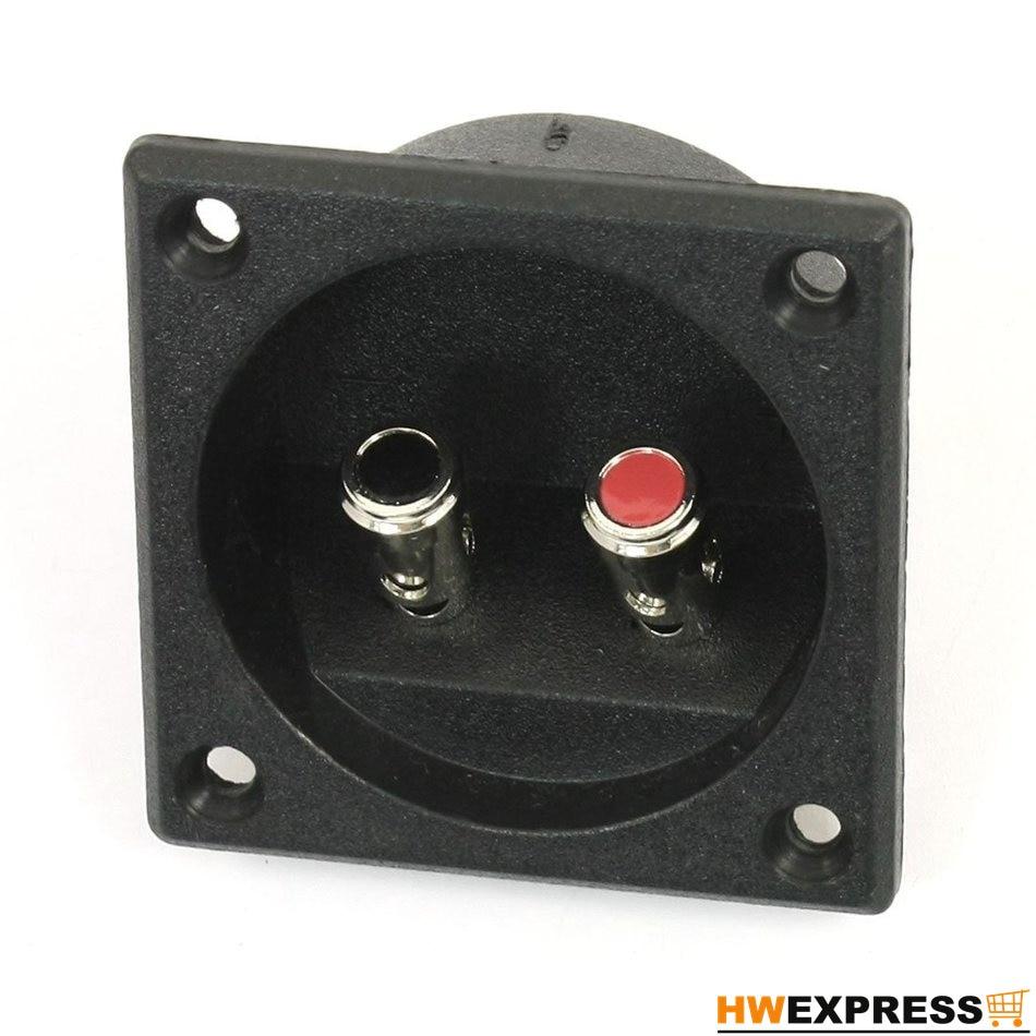 HWEXPRESS Hot Square Shape Double Binding Post Type Speaker Box Terminal Cup Black смеситель для ванны zenta о нест с аксессуарами z0503