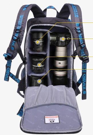 DSLR SLR Camera Backpack Outdoor camping hiking camera bag Outdoor  Shoulders Professional Photography Bag For Canon Nikon