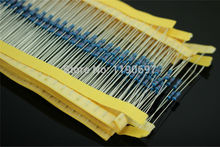500pcs 0.25W Metal Film Resistors 1/4W 1R-100R~470R~1K~4.7K~20K~330K~1M 1% Leave a message a kind of resistance Free Shipping