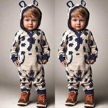 Newborn Infant Baby Boys Girls Jumpsuit Sunsuit Clothes Outfits