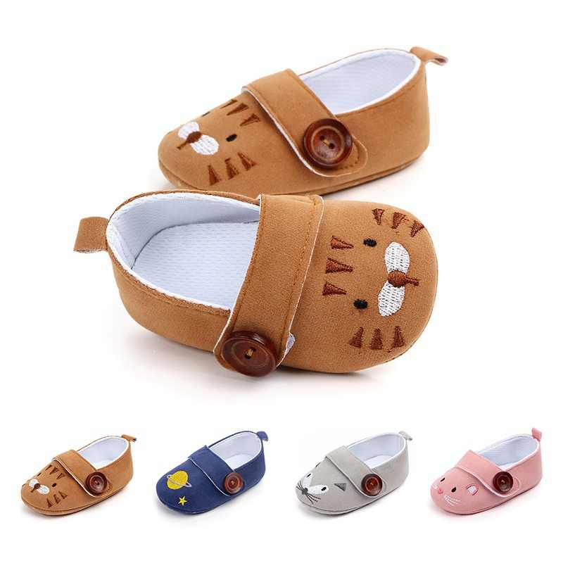 da99891dcadd New Cute Cartoon Animal Print Loafers Baby Boys Girls Shoes Newborn Infant  Toddler Footwear Soft Sole