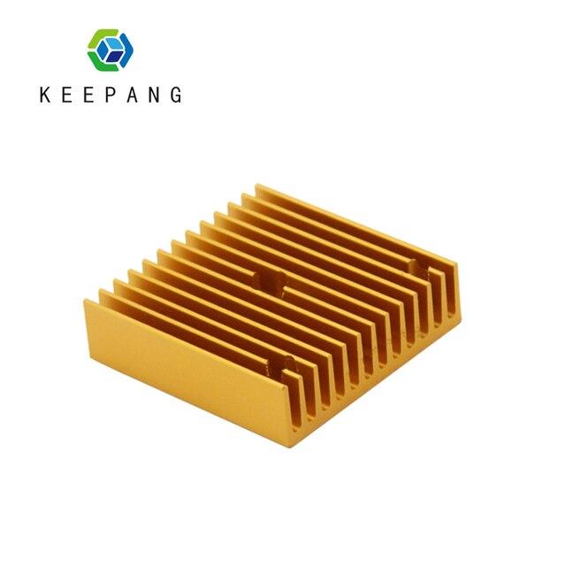 Kee Pang 1 PC MK7 MK8 extrudeuse aluminium dissipateur thermique Fit 40mm ventilateur de refroidissement couleur or 40x40x11mm radiateur radiateur pièces d'imprimante 3D