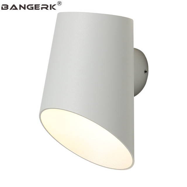 Nordic Design Modern Sconce Wall Light Iron White Simple Bedside LED Wall Lamp Loft Home Decor Lighting Fixtures Lamparas