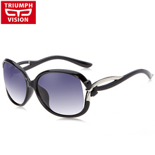 TRIUMPH VISION Fashion Bow-Knot Shades Female Luxury Brand Sun Glasses Women Oversized Polarized Driving Women Sunglasses Lunett