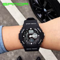 2018 SANDA Watch Men Sport Army Military LED Digital Watches Mens Quartz Waterproof Clock Relogio Masculino