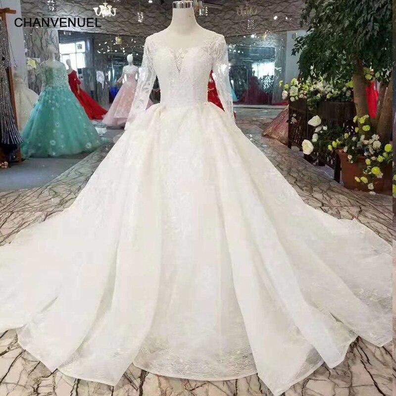 78013113e LSS258 vestidos de novia nuevos puros como blancos de manga larga con  cordones en la espalda vestidos de novia musulmanes de fábrica china envío  gratis en ...