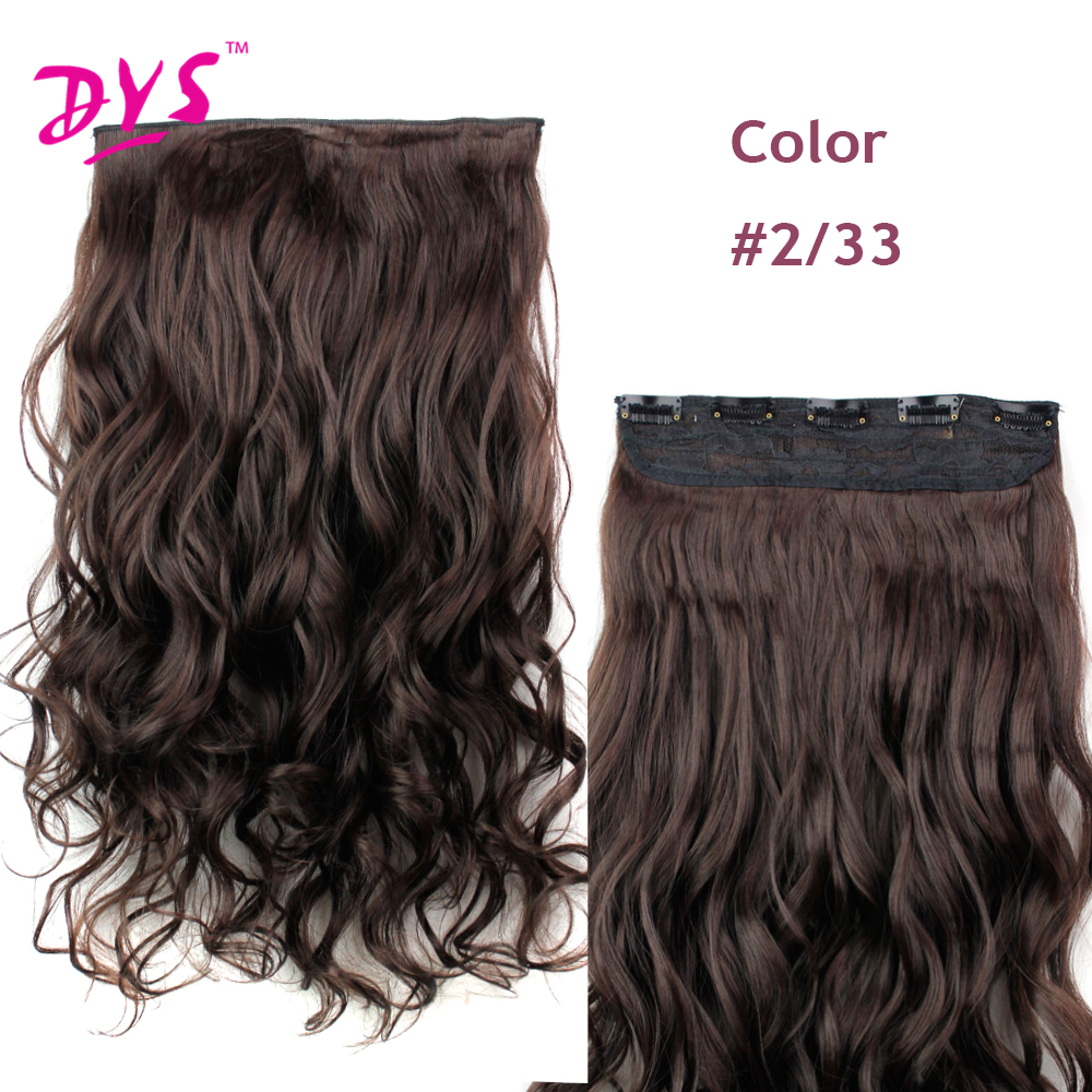 Deyngs 60CM One Piece 5 Clips in Hair Extensions For Women 34 Full Head Long Wavy16 Colors High Temperature Synthetic Fiber (14)