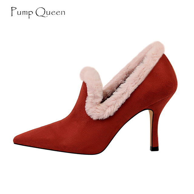 fd51dec5f1f Fur High Heels Ankle Boots Women Red Royal Blue Black Ladies Boots Cute  Size 40-in Ankle Boots from Shoes on Aliexpress.com | Alibaba Group