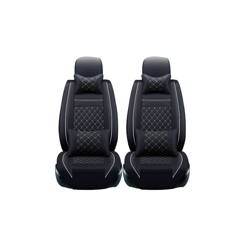 (2 front) Leather Car Seat Cover For CITROEN C Quatre C Elysee C1 C2 C-Zero C3 C5 Black Free Shipping accessories