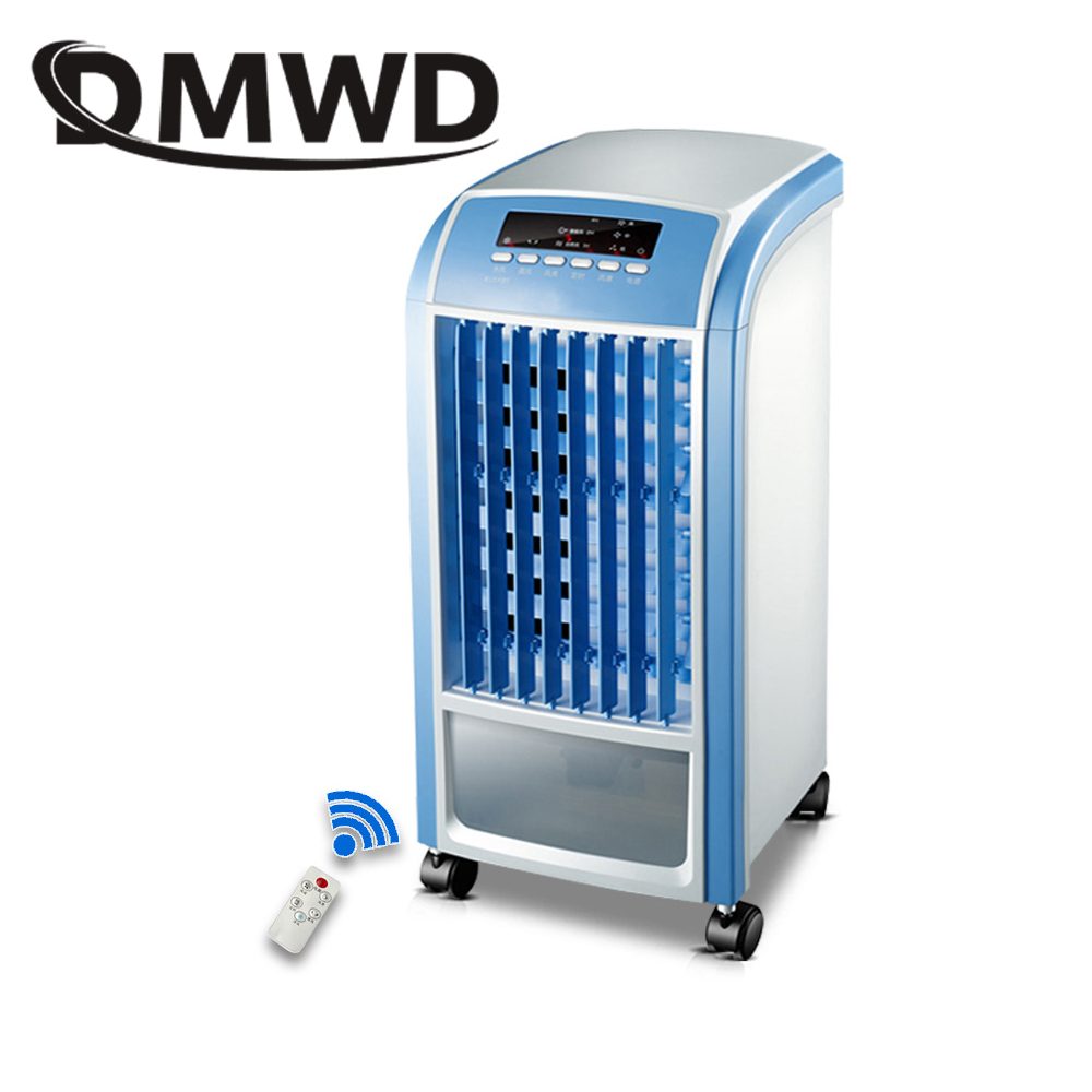 DMWD Portable Strong Wind Air Conditioning Cooler Electric Conditioner Cooling Fan Household Water-cooled Chiller Fan Humidifier