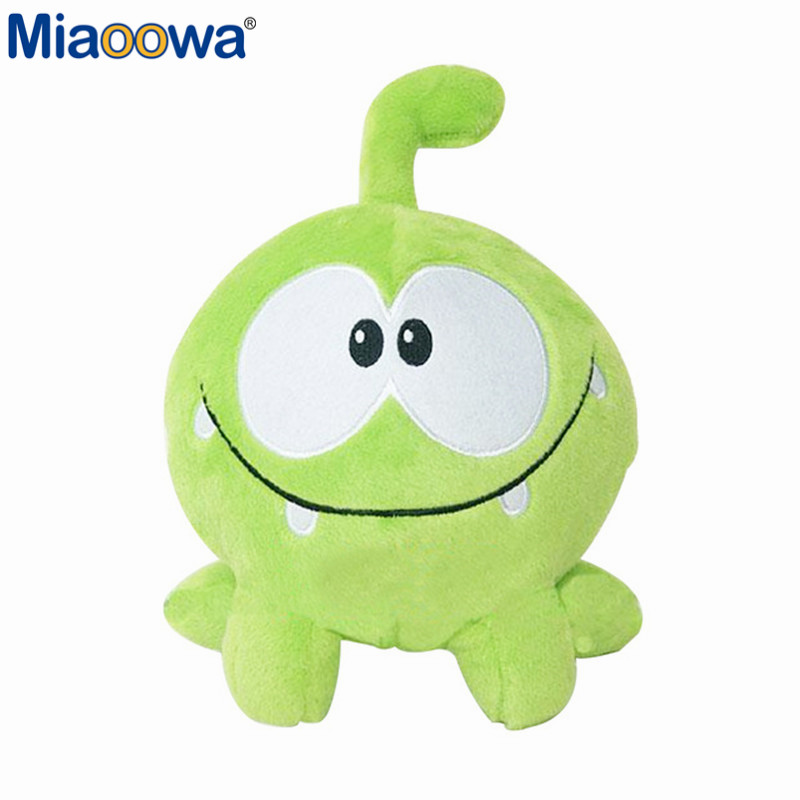 1pc 20cm Green Frog Kawaii Om Nom frog plush stuffed Cotton Soft Plush Rubber Cut The Rope Figure Toy For Children