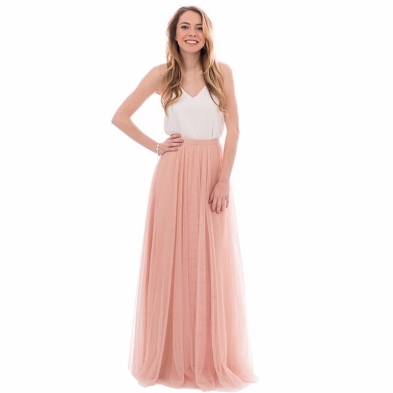 727591e0e9 Dinámica de Durazno Rosa Faldas de Tul De Dama de Honor Para La Boda ...