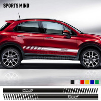 1 Pair Customizable Car Styling Door & Waist Line Sticker Decoration Car Sticker Decal For FIAT 500X ABARTH Exterior Accessories