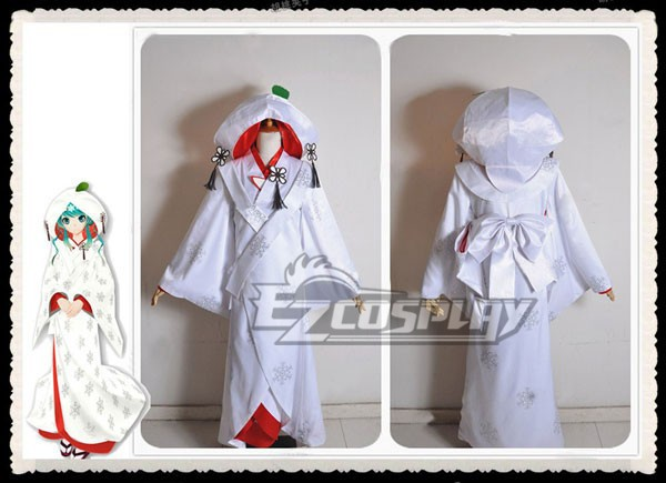 Vocaloïde 2013 édition neige Miku se marier Costume Cosplay Costume E001