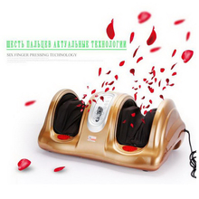 B03/Hot! Electric Health Care Antistress Muscle release Therapy Rollers Shiatsu Heat Foot Massager Machine device feet file