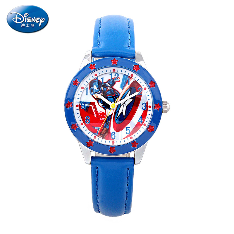 boy watches Leather  clocks relogio student kids watch Disney brands children's wristwatches Boys waterproof quartz creative fashion boy girl watch 2016 kids cute pig printed watches faux leather men analog watch student relogio free shipping