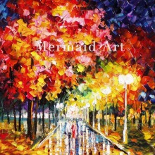 Hand Painted Commitment Of Love Landscape Abstract Palette Knife Modern Oil Painting Canvas Wall Living Room Artwork Fine Art
